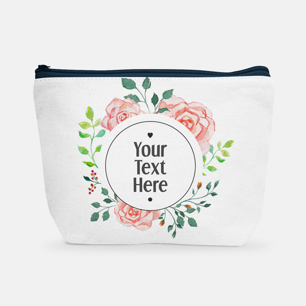 Round Floral Frame | Cosmetic Bag - But Why Not