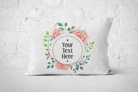 Round Floral Frame | Pillow