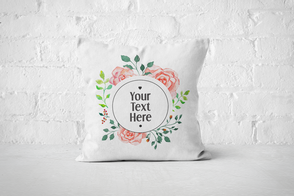 Round Floral Frame | Pillow - But Why Not