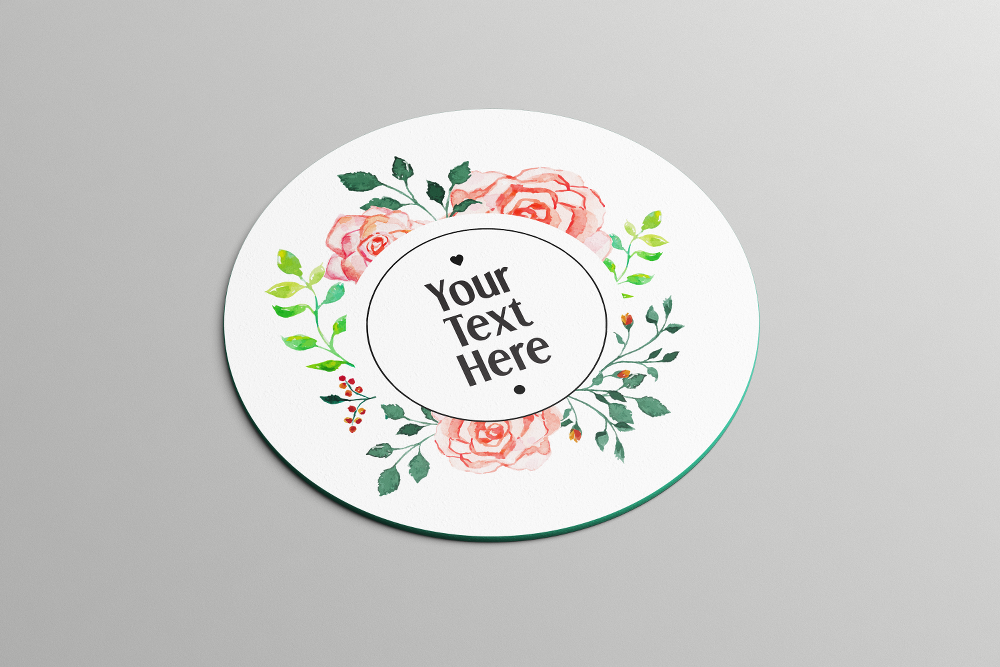 Round Floral Frame | Coasters - But Why Not