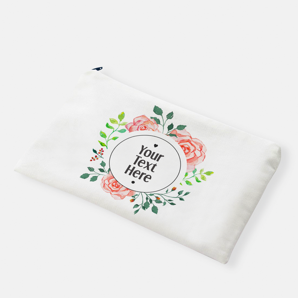 Round Floral Frame | Pencil Bag - But Why Not