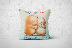 Bearentines 2 | A3 Square Pillow