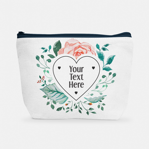 Heart Floral Frame | Cosmetic Bag