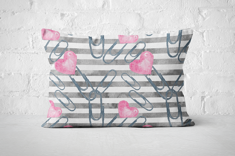 Heart Paperclips | Pillow