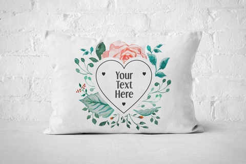 Heart Floral Frame | Pillow - But Why Not