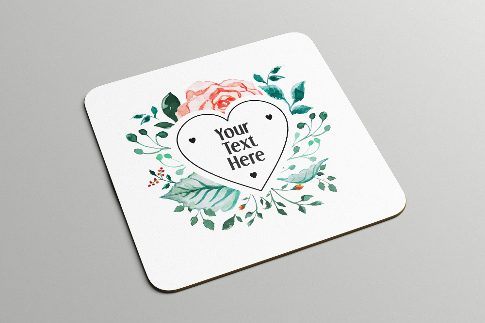 Heart Floral Frame | Coasters - But Why Not