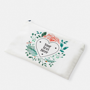 Heart Floral Frame | Pencil Bag - But Why Not