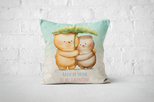 Bearentines 3 | A3 Square Pillow