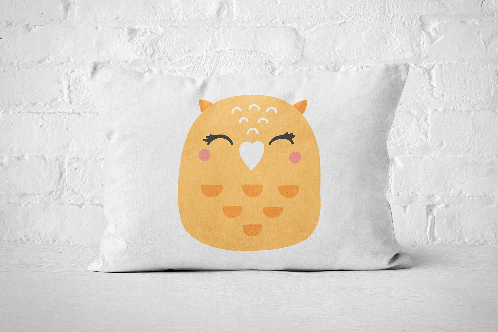 Smiley Critter 10 | Pillow Rectangle - But Why Not