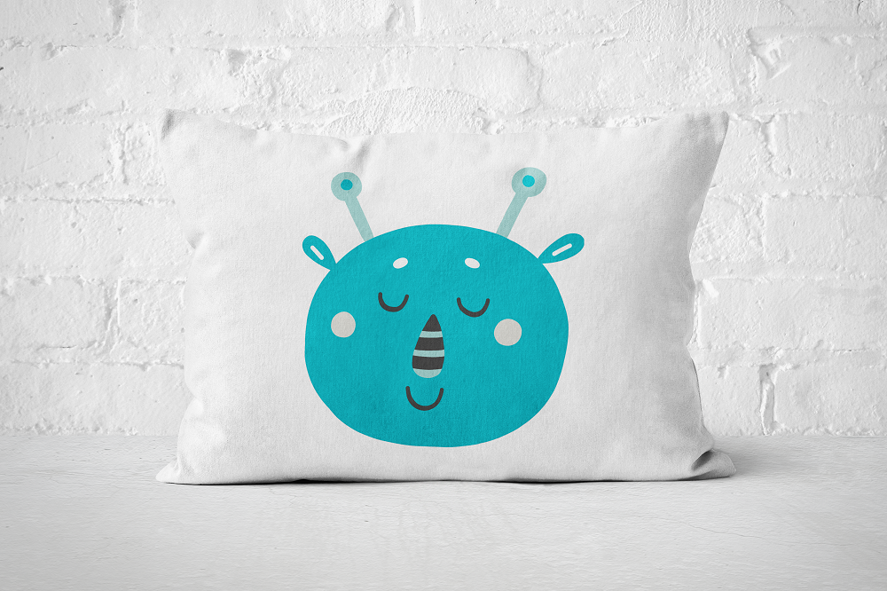 Smiley Critter 12 | Pillow Rectangle - But Why Not