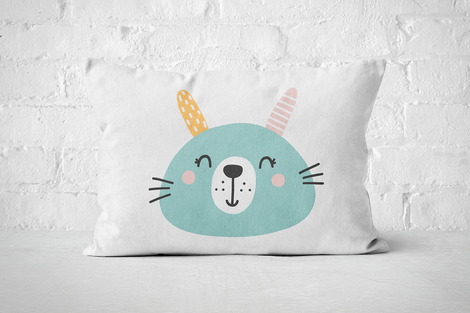 Smiley Critter 16 | Pillow Rectangle - But Why Not