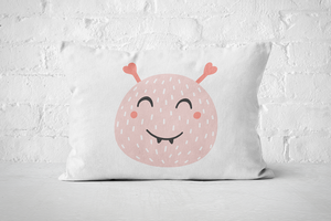 Smiley Critter 17 | Pillow Rectangle - But Why Not