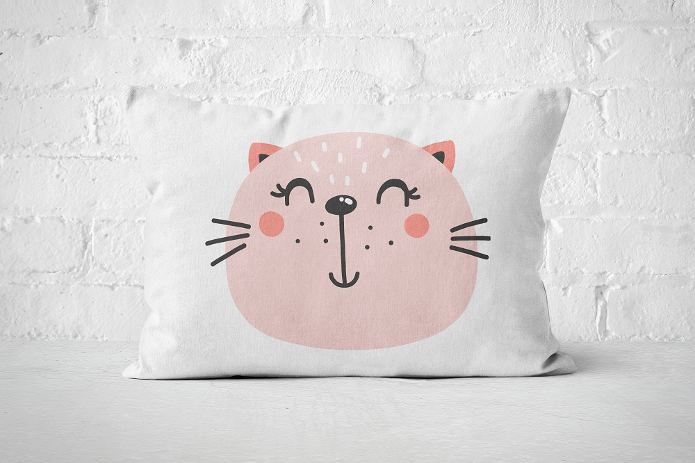 Smiley Critter 18 | Pillow Rectangle - But Why Not