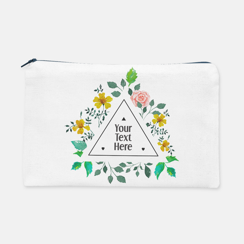 Triangle Floral Frame | Pencil Bag - But Why Not