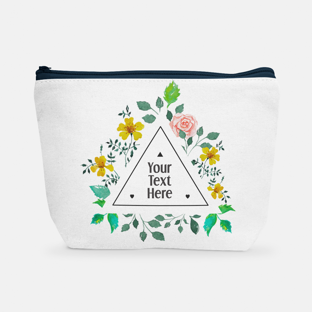 Triangle Floral Frame | Cosmetic Bag - But Why Not