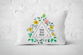 Triangle Floral Frame | Pillow