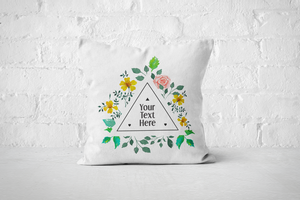Triangle Floral Frame | Pillow - But Why Not