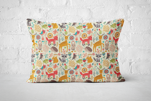 Forest Animals Light | Pillow Rectangle - But Why Not