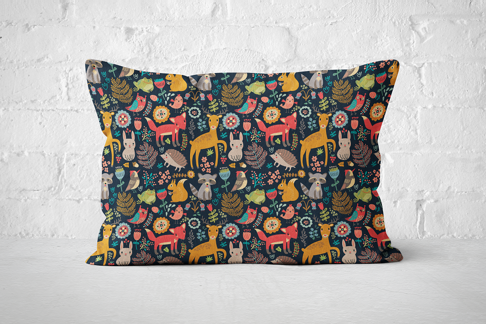 Forest Animals Dark | Pillow Rectangle - But Why Not