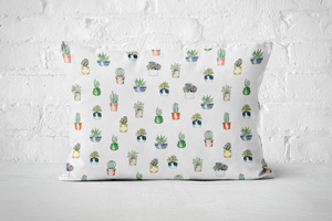 Succulent Pattern 2 | Pillow Rectangle - But Why Not