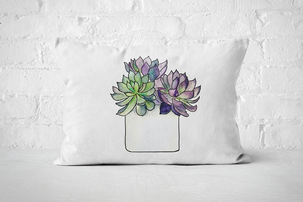 Succulent 5 | Pillow Rectangle - But Why Not