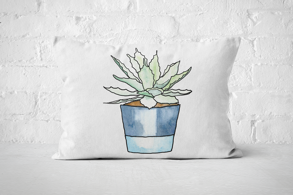Succulent 9 | Pillow Rectangle - But Why Not
