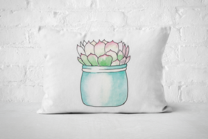 Succulent 11 | Pillow Rectangle - But Why Not