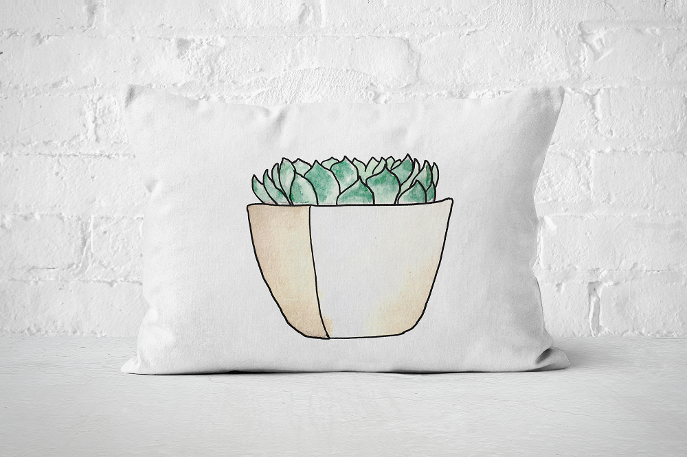 Succulent 14 | Pillow Rectangle - But Why Not