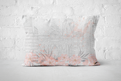 Flower Building | Pillow
