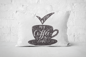 I like my coffee light (dark) | Pillow Rectangle - But Why Not