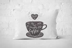 Smells like Coffee (dark) | Pillow Rectangle - But Why Not