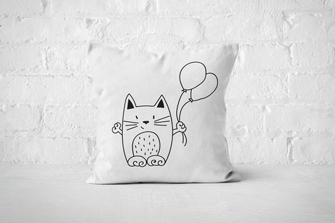 Balloon Cat | Pillow - Square