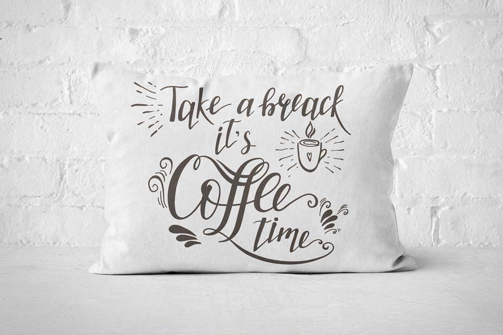 Take a break - its coffee time | Pillow Rectangle - But Why Not
