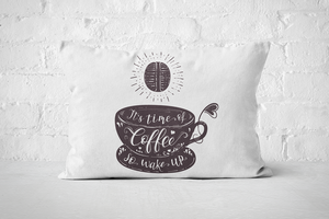 It's Time of Coffee (dark) | Pillow Rectangle - But Why Not