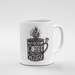 Cup of Coffee for me please (dark) | Mug - But Why Not