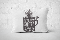 Cup of Coffee for me please (dark) | Pillow Rectangle - But Why Not