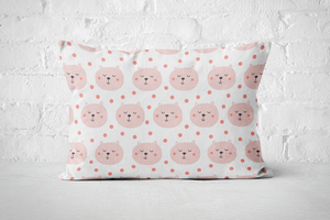 Smiley Critters Pattern 5 | Pillow Rectangle - But Why Not