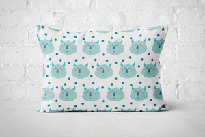 Smiley Critters Pattern 6 | Pillow Rectangle - But Why Not