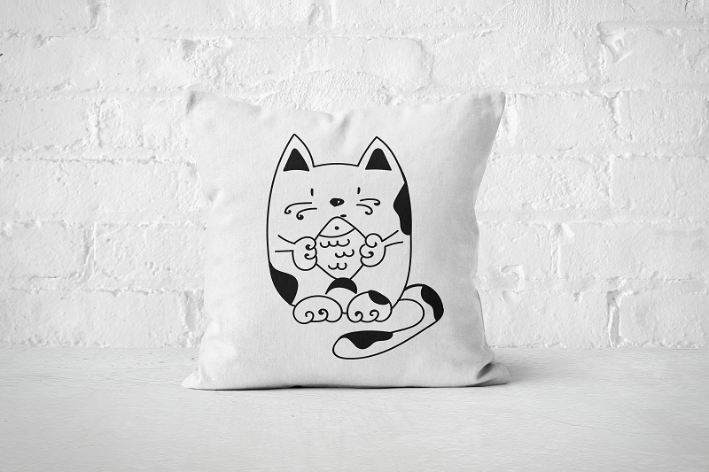 Fish Cat | Pillow - Square - But Why Not