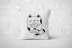 Fish Cat | Pillow - Square