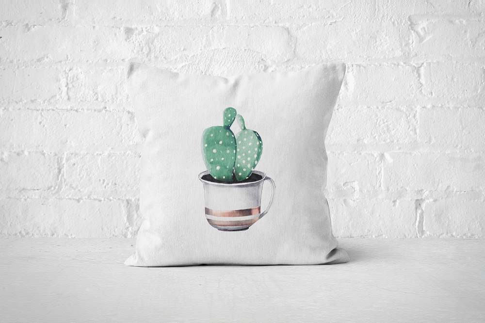 Cacti Party 9 | Pillow Cover - But Why Not