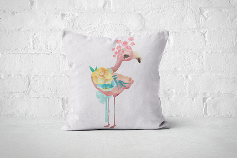 Pretty Letters Pillow Cover - Flamingo - But Why Not