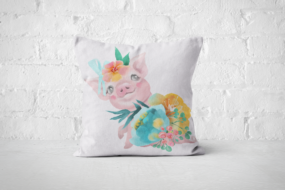 Pretty Letters Pillow Cover - Piggy 1 - But Why Not