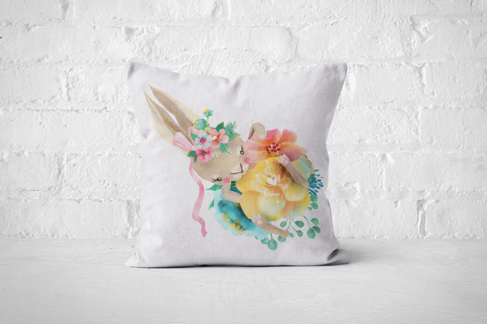 Pretty Letters Pillow Cover - Bunny 1 - But Why Not