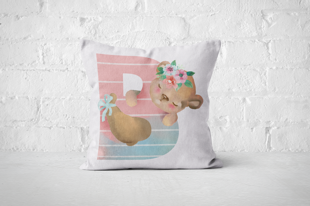 Pretty Letters Pillow Cover - B - But Why Not