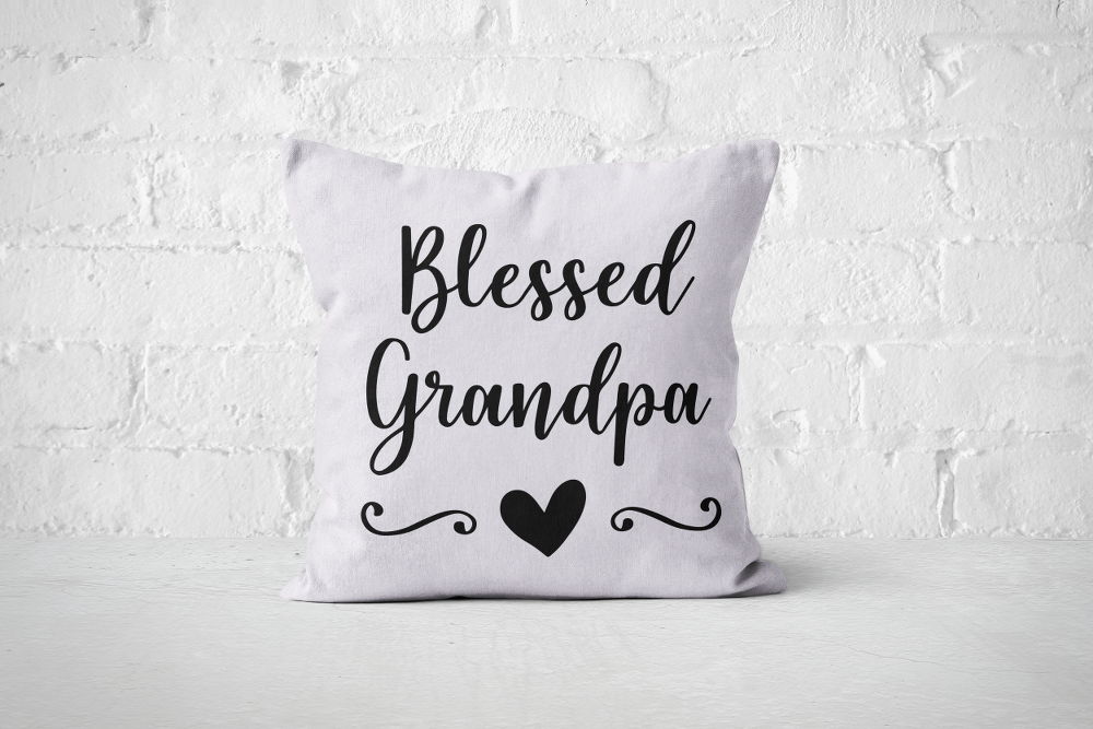 Blessed Grandpa | Pillow Square - But Why Not