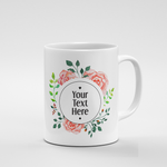 Round Floral Frame | Mug - But Why Not