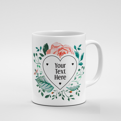 Heart Floral Frame | Mug - But Why Not
