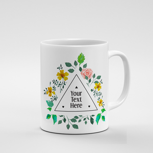 Triangle Floral Frame | Mug - But Why Not