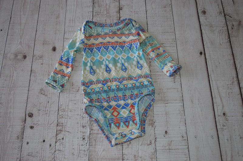 Boho Print Baby Grow - But Why Not